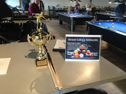 Trophy from houston billiards tour